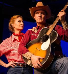 Shay Oglesby-Smith and Craig Eychner in Johnny Guitar, The Musical at Masquers Playhouse.