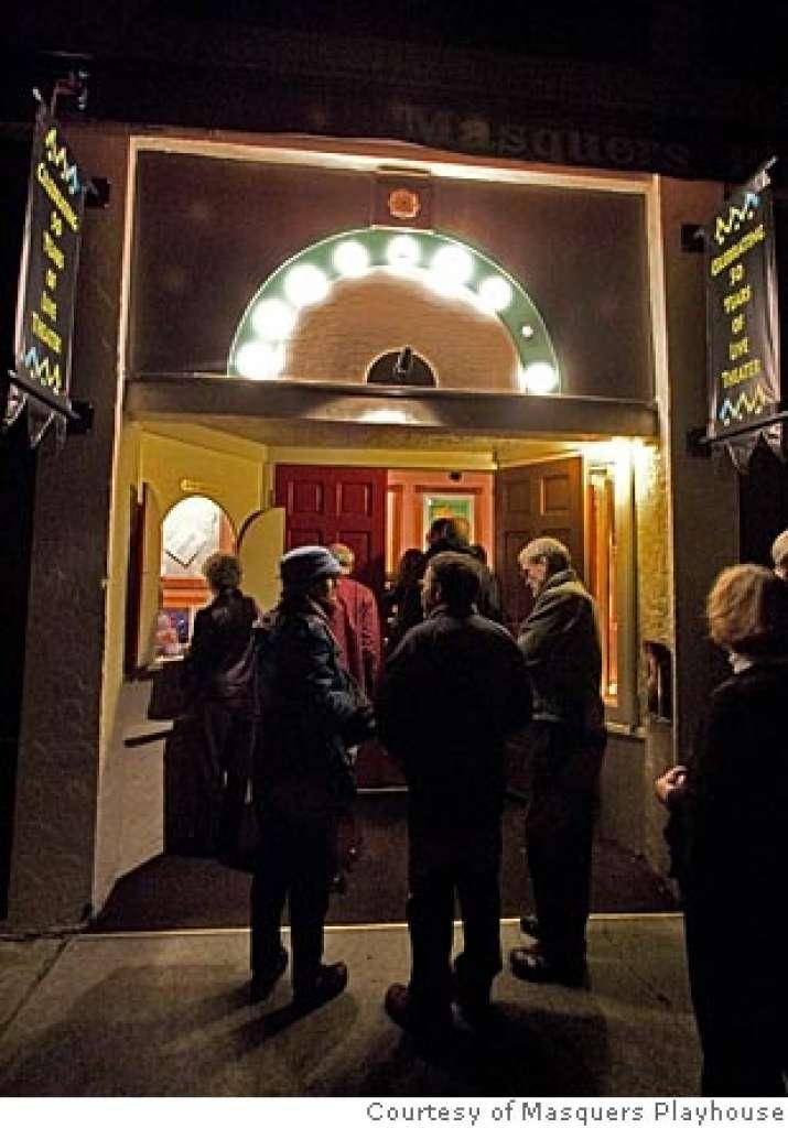 Entering Masquers Playhouse in Pt. Richmond, CA