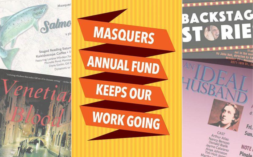 Masquers Theater Annual Fund graphic