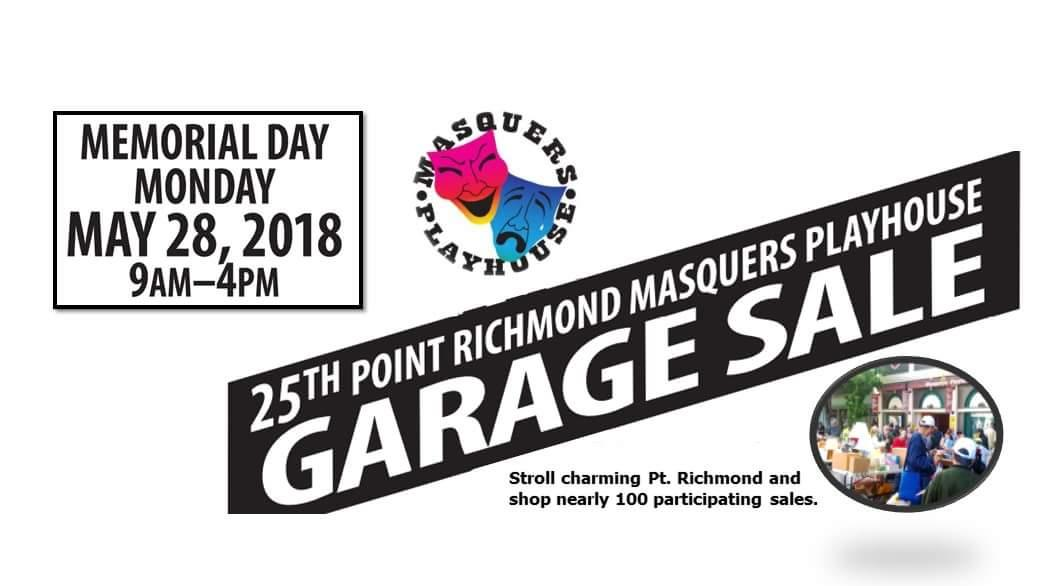 25th Point Richmond Masquers Garage Sale | Memorial Day