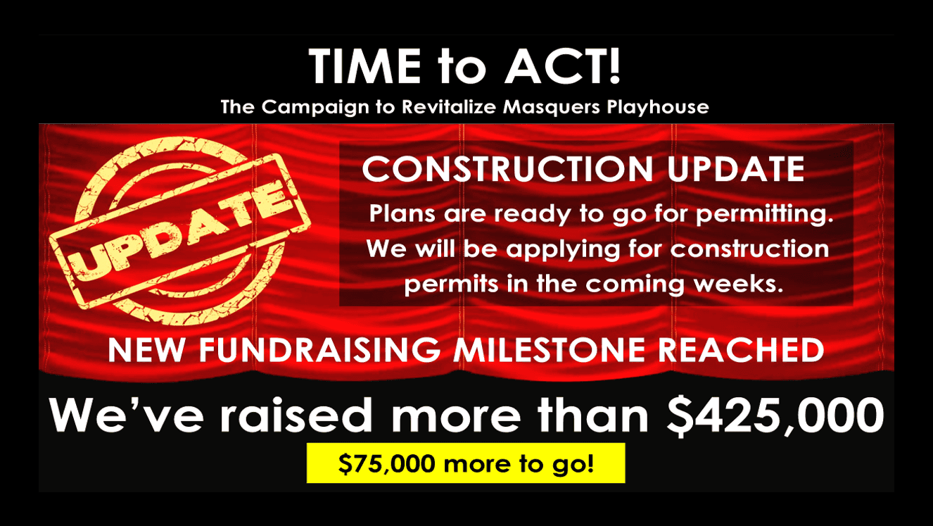 Time to Act! Join the Campaign to Revitalize Masquers