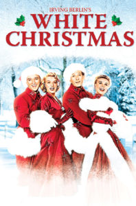 Poster for White Christmas movie singalong, benefit for Masquers Playhouse revitalization