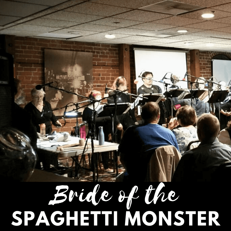 Bride of the Spaghetti Monster radio play poster