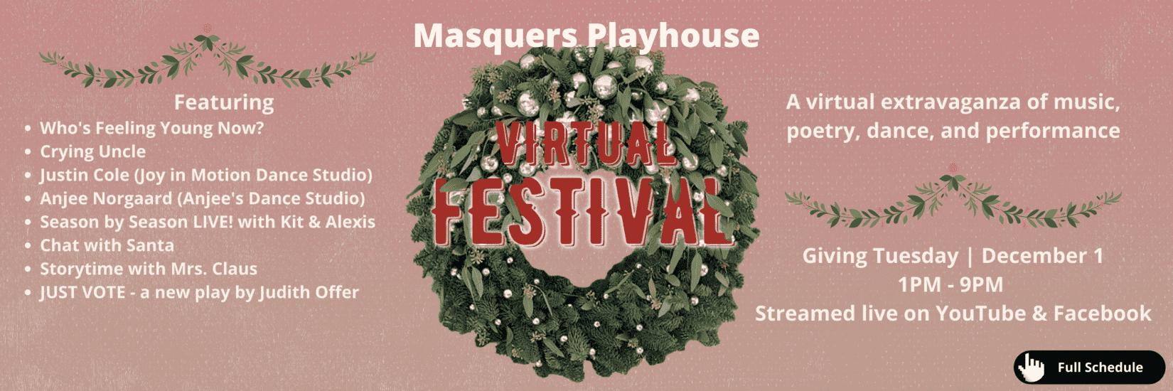 Masquers Playhouse Virtual Festival